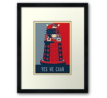 Dr Who - Yes We Caan Framed Print