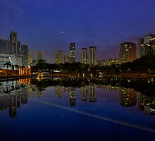 City Reflections at Dawn by Nur Ismail Mohammed