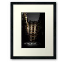Open window in Paris Framed Print