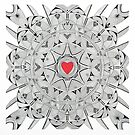 Sacred heart by federico cortese