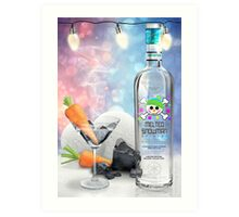 """Melted Snowman"" Martini - North Pole Vodka Art Print"