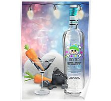 """""""Melted Snowman"""" Martini - North Pole Vodka Poster"""