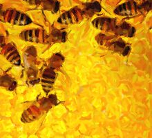 Bees for ipad - painting by stereoscopic