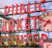 Rise and Shine at Pike Place Market by Sue Morgan