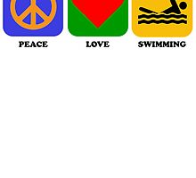 Peace Love Swimming by kwg2200