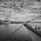 Texas Coast Images - Boats of Rockport, Texas 4 black and white by RobGreebonPhoto
