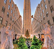 Rockefeller Center at Christmas by Randy  Reese