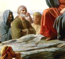 Carl Heinrich Bloch - Sermon on the Mount Sticker