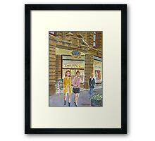 Young women at Block Arcade Framed Print