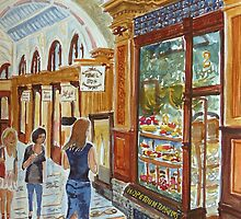 Hopetoun Tea Rooms, Block Arcade, Melbourne by Virginia  Coghill