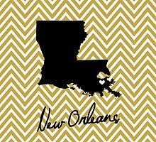 New Orleans and Saints Inspired iPhone Case by eeadhorne