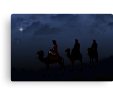 Following the Star Canvas Print