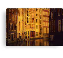 Golden Amsterdam Canvas Print
