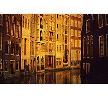 Golden Amsterdam Photographic Print