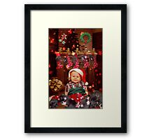 WARMEST HOLIDAY WISHES Framed Print