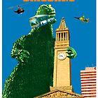 City Hall Dinosaur Postcard Brisbane by WendyandMarg