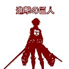 Attack on Titan for Iphone case with characters(top)(Red Tee) by PT Chen