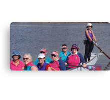 Dragonboating Hats Canvas Print