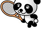 Panda Tennis Player by kwg2200