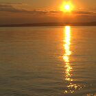 Sunset over Slave Lake by Kathi Arnell