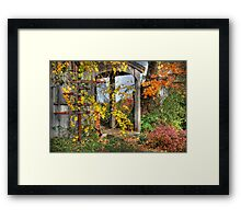 All Signs Point to Fall Framed Print