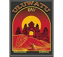 ULUWATU BALI SURFING Photographic Print