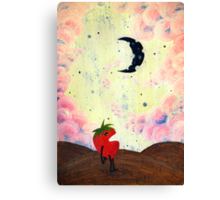 Mister Strawberry Cries at the Moon Canvas Print