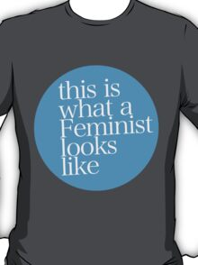 This is what a Feminist looks like BLUE T-Shirt