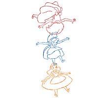 Hand drawn animation Key frames - Alice in Wonderland Photographic Print