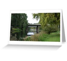 Meander River Bridge, Deloraine, Tasmania Greeting Card