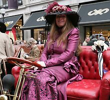 A contestant at the Regent Street Motor Show 2013 in period dress by Keith Larby