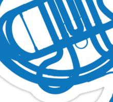 Blue Horn Sticker
