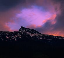 Mountain Sunset by RevelstokeImage