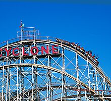 Coney Island Cyclone - Brooklyn - New York by Madeline Bush Ellis