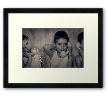 The Good Listener Framed Print