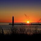 Frankfort North Breakwater Lighthouse by djphoto
