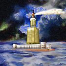 Pharos of Alexandria iPad/iPhone/iPod cases by Dennis Melling