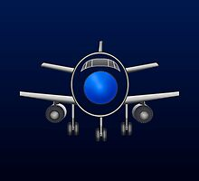 Airplane [Blue~Dark Blue] by V-Art