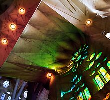 """Sagrada Familia"" by Gaudi, Barcelona by Angelika  Vogel"