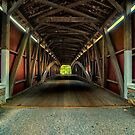 Inside Looking Through Cover Bridge by KellyHeaton