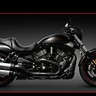 Black Harley Davidson VRSCD Night Rod motorcycle art photo print by ArtNudePhotos
