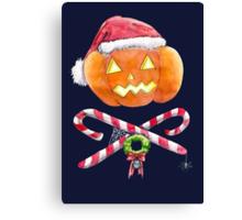 Pumpkin Santa Canvas Print