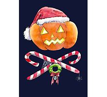 Pumpkin Santa Photographic Print