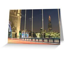 Tower Bridge View of The Shard Greeting Card