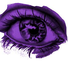 purple eye by linwatchorn