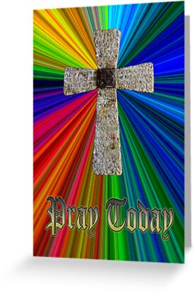 """pray today"" lord's prayer cross by dedmanshootn"