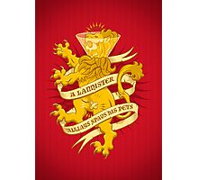 A Lannister Always... Photographic Print