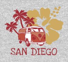 Retro San Diego Beach Scene by whereables