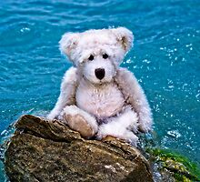 Beach Bum - Teddy Bear Art By William Patrick And Sharon Cummings by Sharon Cummings