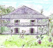 Doctor's House, Old Leprosy Colony, Curieuse Island by John Douglas